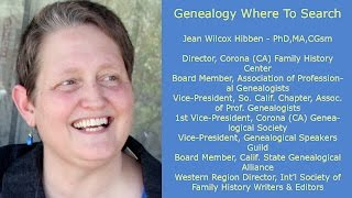 Genealogy: Where To Search