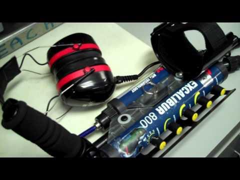 Experimental headphones for Minelab Excalibur metal detector...