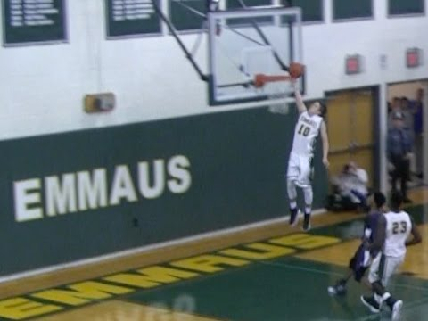2016 Varsity Boys Basketball Highlights: Emmaus Vs  Pocono Mountain West (видео)