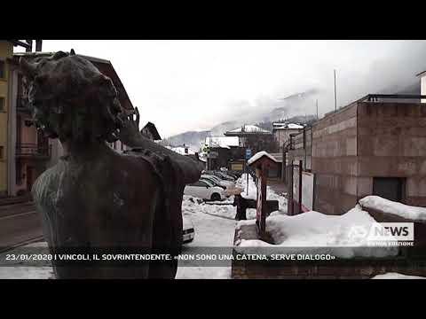 23/01/2020 | VINCOLI, IL SOVRINTENDENTE: «NON SONO UNA CATENA, SERVE DIALOGO»