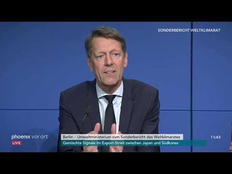 Pressekonferenz des Umweltministeriums zum IPCC-Sonder ...