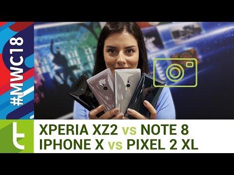 Tudocelular - Câmera do Xperia XZ2 enfrenta iPhone X, Galaxy Note 8 e Pixel 2 XL #MWC18