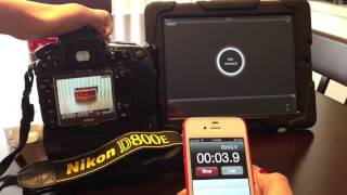 Set up using Nikon D800E & iPad