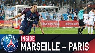 Video INSIDE - OLYMPIQUE DE MARSEILLE VS PARIS SAINT-GERMAIN with CAVANI MP3, 3GP, MP4, WEBM, AVI, FLV Oktober 2017