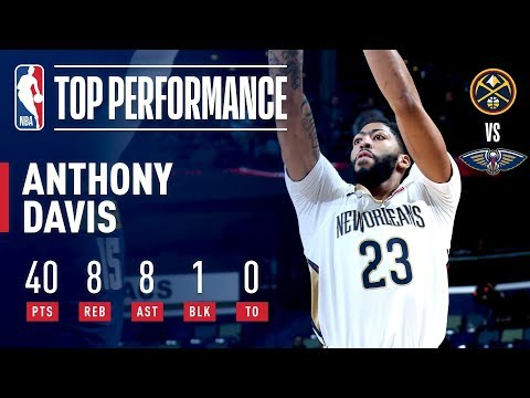 Video: Anthony Davis Consecutive 40 Point Games After Win Against Nuggets | November 17, 2018