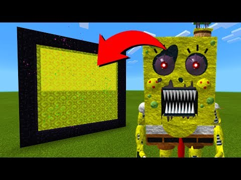 How To Make A Portal To The Spongebob Animatronic Dimension in Minecraft!