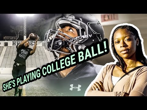 She's Going To Be The FIRST FEMALE In The NFL! Toni Harris Is Unbelievable 😱