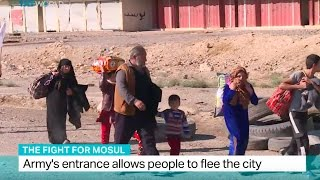 The Fight for Mosul: Army's entrance allow people to flee the city