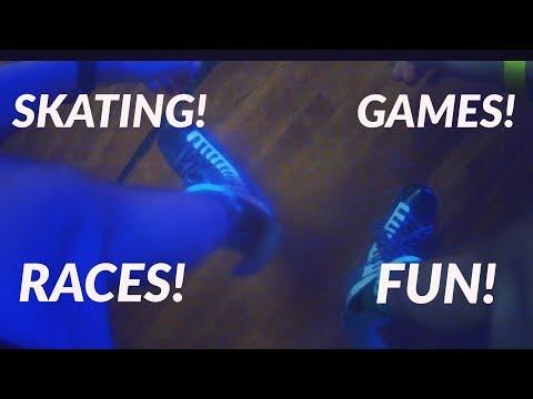 Skating at Wheels Family Skating Center | Races | Games | Backwards Skating