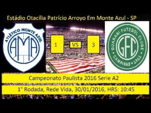 Campeonato Paulista 2004 Serie A2 Monte Azul 1 x 3 Guarani de Campinas