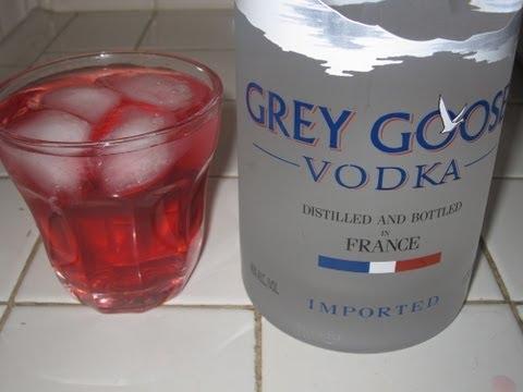 Vodka y Jugo de Arandano.