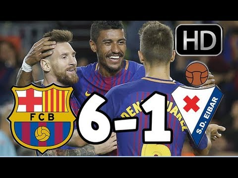 Barcelona vs Eibar  RESUMEN Y GOLES HD  LIGA  19-09-17