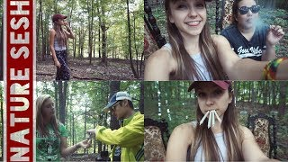 Nature Sesh in the Woods with Friends! (ft. @TheDabSpot @Evil.Evelyn & @StonedAlone) by Silenced Hippie