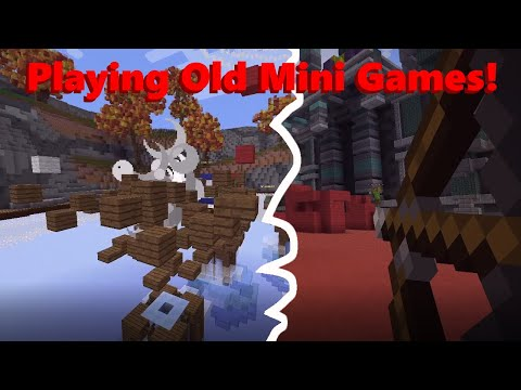 Playing Old Minecraft Mini Games!