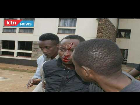 Police caught on camera while shooting Multimedia University student during protest