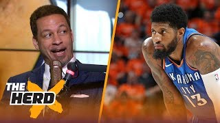 Chris Broussard on Paul George leaving OKC to potentially join LeBron on Lakers | NBA | THE HERD by Colin Cowherd