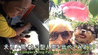 犬型人間・ネコ型人間を比べてみよう!