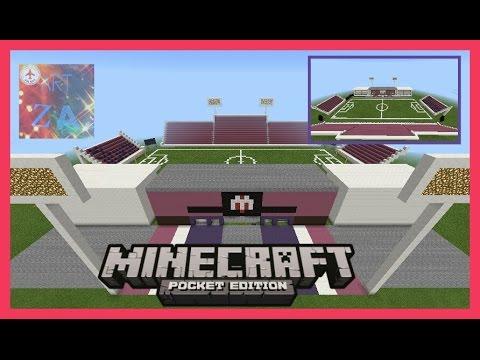 [AZD]-[รีวิว]สนามฟุตบอลชัยนาท เอฟซีใน Minecraft PE เขาพลองสเตเดี้ยมในมายคราฟพีอี