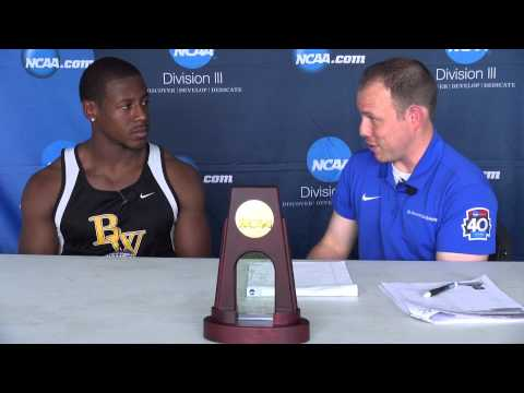 Kevin Johnson NCAA Division III National Champion in 100-meter