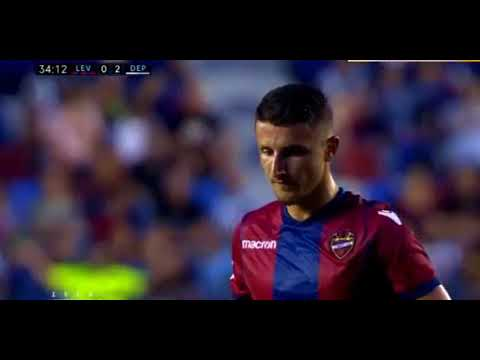 Enis Bardhi AWESOME FREEKICK GOAL HD   Levante 1 2 Dep  La Coruna 26.08.2017
