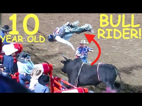 Video KIDS BULL RIDING AT THE UTE STAMPEDE RODEO! download in MP3, 3GP, MP4, WEBM, AVI, FLV January 2017