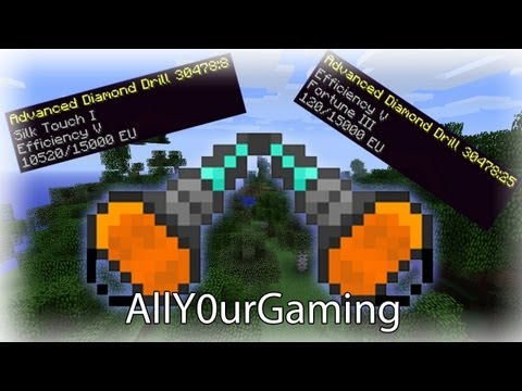 Minecraft How To Enchant Industrial Craft Mining Drill