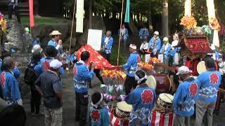 掘田組神楽獅子舞い奉納・比良賀神社秋の大祭