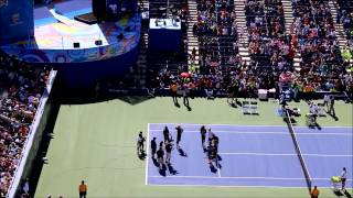 Tennis superstars Rafael Nadal, Serena Williams, Roger Federer and world No. 1 wheelchair player David Wagner participated in...