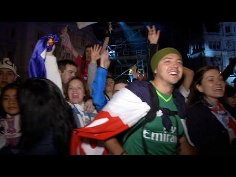 Μαδρίτη: Ξέφρενοι πανηγυρισμοί για τη νίκη της Ρεάλ στο Champions League