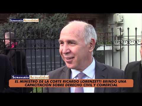 EL DR. LORENZETTI DISERTÓ EN MORENO SOBRE EL NUEVO CÓDIGO CIVIL Y COMERCIAL