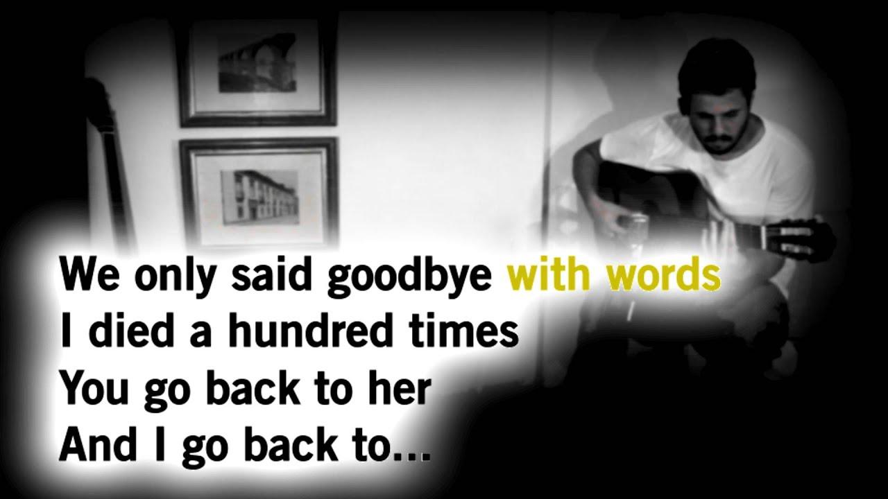 Amy Winehouse – Back to black – Acoustic Guitar Karaokê