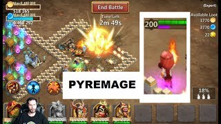 Pyremage is pretty sweet.. sends down a big COMET of fire onto your target.. also destroys walls. Enjoy!