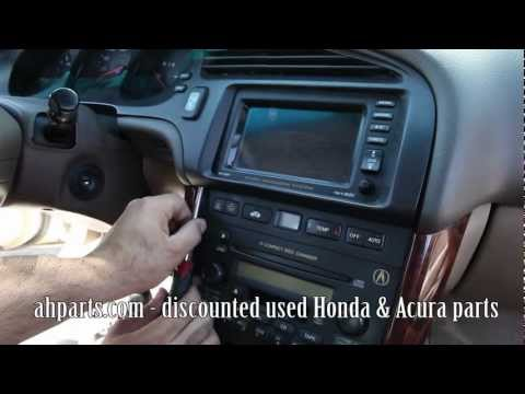 how to remove cd player from 2003 acura tl