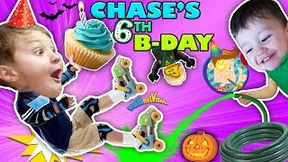 Video CHASE'S 6th BIRTHDAY! Learning 2 ROLLER SKATE on 1st day of FALL! Ouch! FUNnel Vision MP3, 3GP, MP4, WEBM, AVI, FLV Agustus 2018