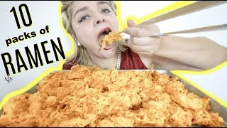 EXTREMELY CHEESY SPICY RAMEN NOODLES MUKBANG *Jail Spread Recipe*