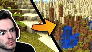 Minecraft But The World Randomly Shifts Around Us