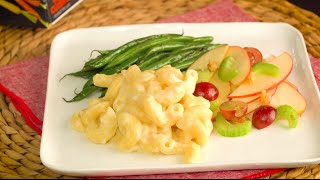 Green Beans & Apple Celery Salad paired with Mac & Cheese by Tastemade