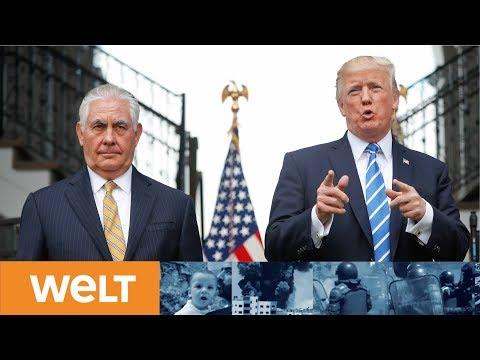 Rausschmiss per Tweet: So kalt serviert Trump seinen Außenminister Rex Tillerson ab