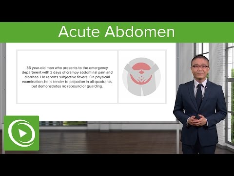 Acute Abdomen: General Principles – General Surgery | Lecturio