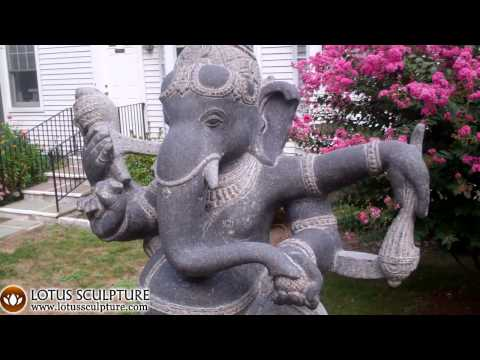 SOLD Stone Ganesh Statue with Rat 30