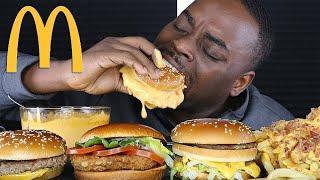 CHEESY MCDONALDS MUKBANG + NEW CHEESY BACON FRIES! EATING SHOW 먹방 사운드   BEAST MODE