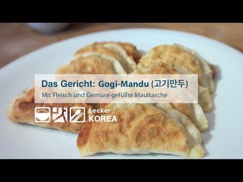 Gogi-Mandu: Mit Fleisch und Gemüse gefüllte Maultas ...