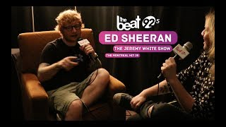 Jeremy White from TheBeat92.5 sits down with Ed Sheeran backstage before his sold out show at Montreal's Bell Centre to talk ...
