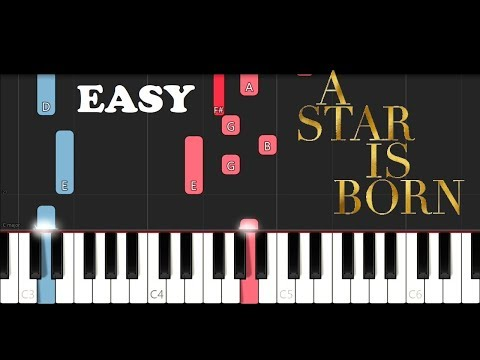 Lady Gaga & Bradley Cooper - Shallow (EASY Piano Tutorial)