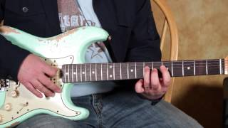 Blues Rock Guitar Lessons - Blues Lick inspired by BB King and SRV