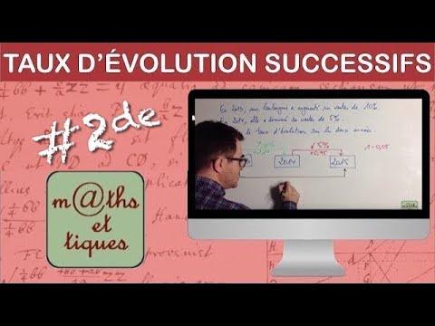 Calculer des taux d'évolution successifs - Seconde