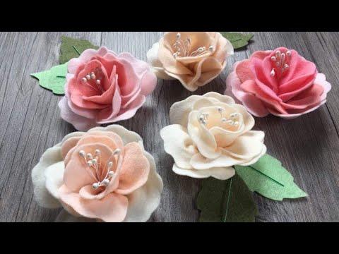 come realizzare delle meravigliose rose in feltro