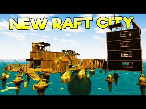 NEW RAFT CITY! TOWING GIANT BARGES FOR MONEY   LEVIATHANS INCOMING! - Landless Early Access Gameplay