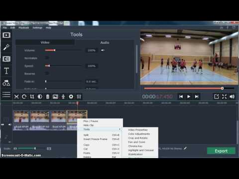 Movavi Video Editor - Slow Motion and Pan Zoom Tutorial