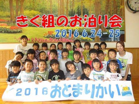 はちまん保育園(福井市)きく組(5歳児年長)のお泊り保育!2016年6月開催。買い物にカレーパーティーに!花火!みんなでたのしく過ごしました。